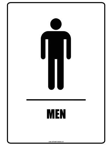 Mens Bathroom Sign
