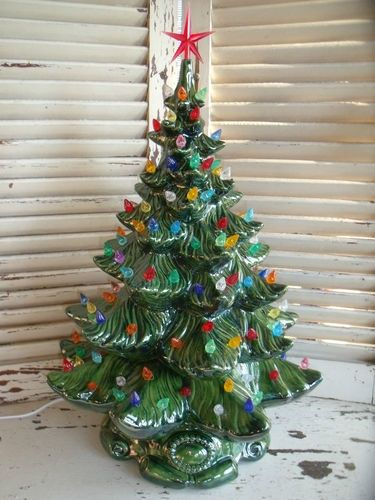 Vintage 1970s Ceramic Christmas Tree